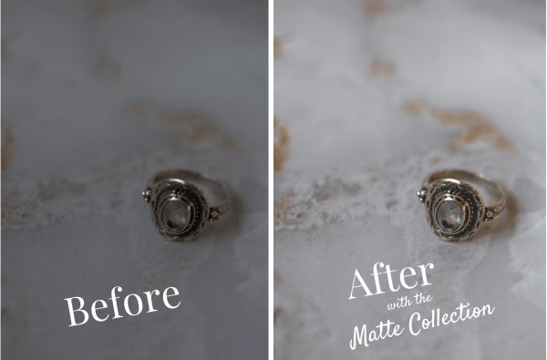 matte lightroom presets photo editing filters for small vegan businesses before and after